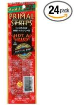 Primal Strips Vegan Meat Alternative Jerky, Hot & Spicy Mushroom Flavor